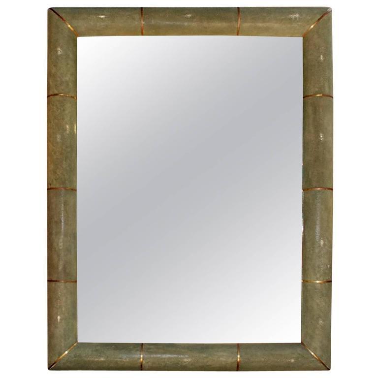 Elegant shagreen mirror for sale at 1stdibs for Elegant mirrors