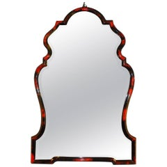 Beautiful Red Horn Chippendale Style Mirror