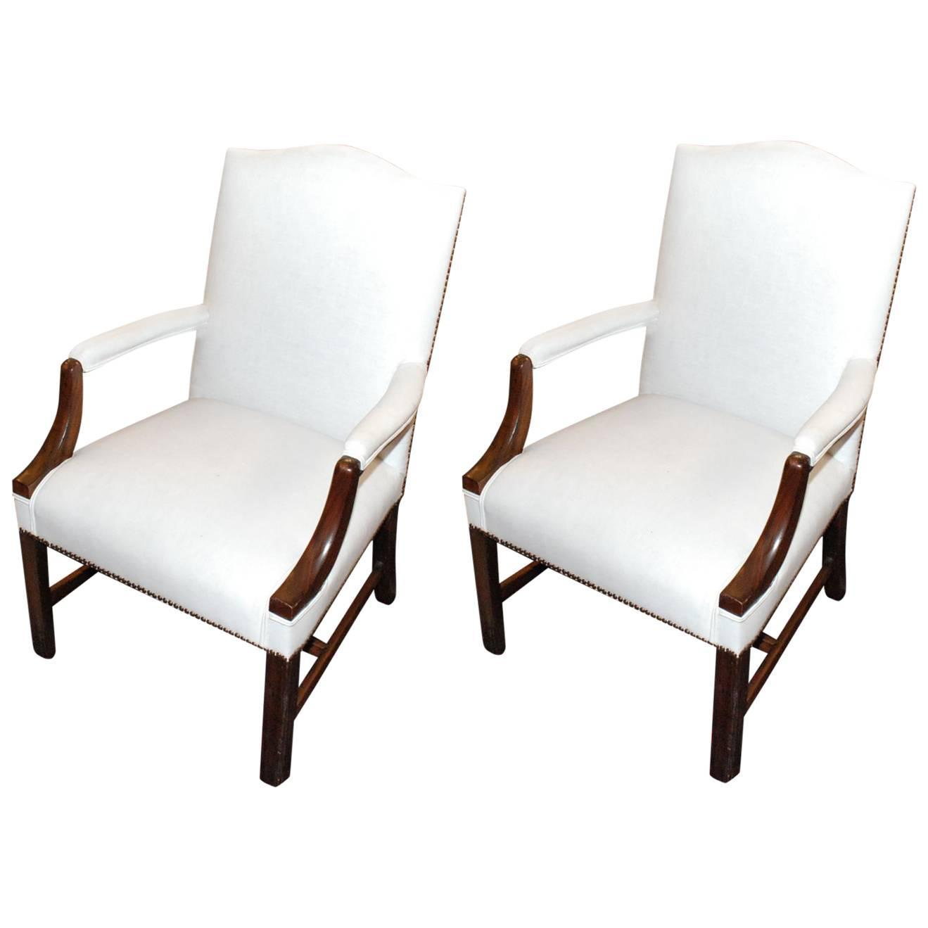 pair of chippendale style armchairs for sale at 1stdibs. Black Bedroom Furniture Sets. Home Design Ideas