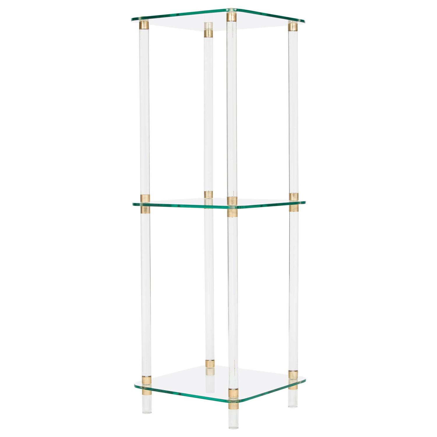 Mid Century French Lucite Side Table At 1stdibs