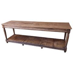 French 19th Century Pine Draper's Table