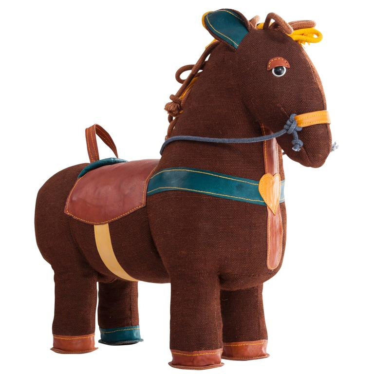 """""""Therapeutic Toy"""" Magic Horse in Brown Jute by Renate Müller, 2015"""