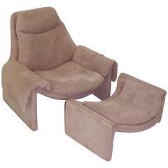 Vittorio Introini P60 Lounge Chair Ottoman Saporiti Proposals Collection