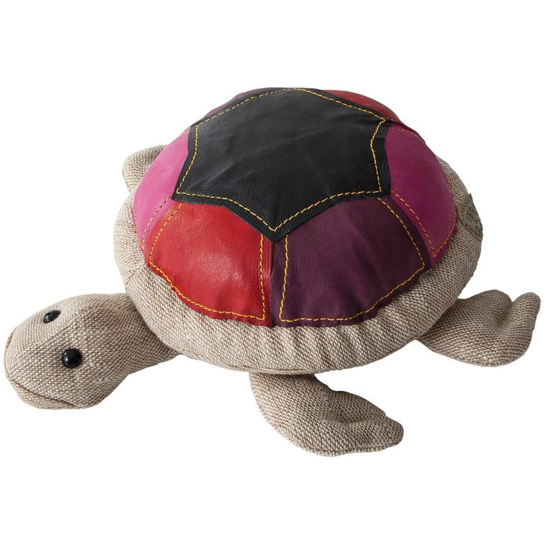 """""""Therapeutic Toy"""" Turtle in Natural Jute and Leather by Renate Müller, 2013"""