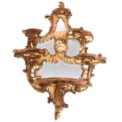 19th Century Mirrored Chinoiserie Style What Not