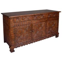Custom Carved Console
