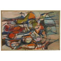 Irene Needle Halpern Abstract Expressionistic Painting