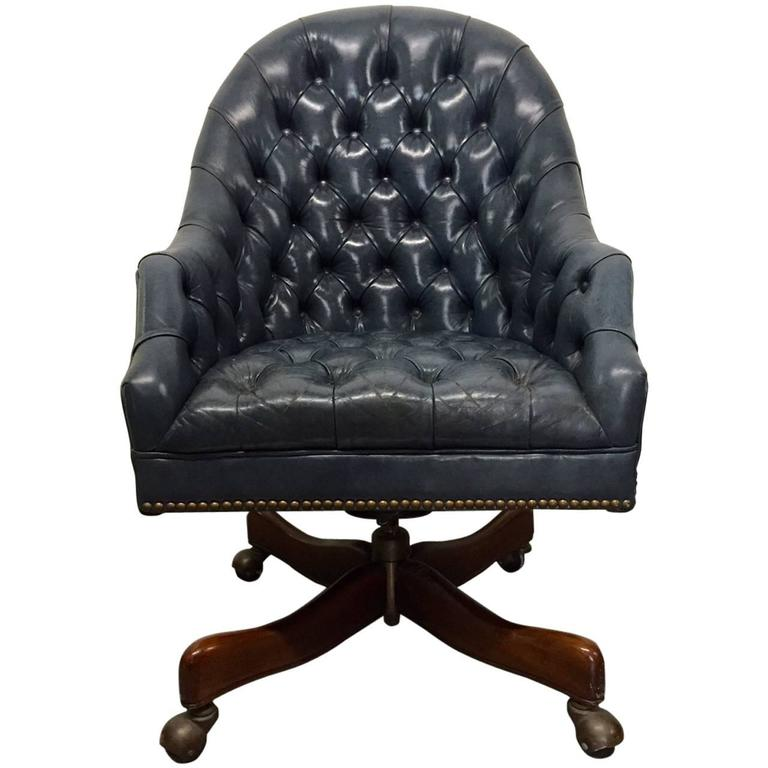 Schafer Bros Tufted Leather Chair 1