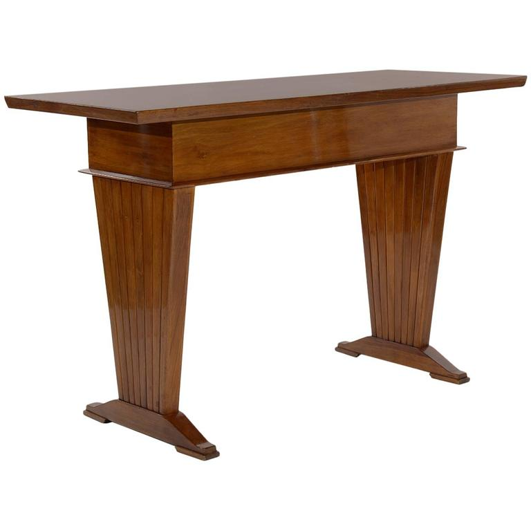 Italian Console Table or Writing Desk by Arch. Giovanni Michelucci For Sale