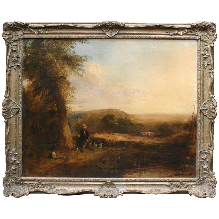 Fine Romantic 18th Century Landscape Painting