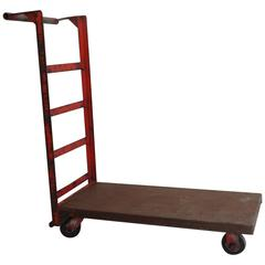 Yellow metal cart for sale at 1stdibs for Furniture hand truck