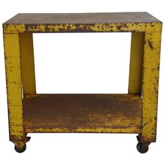 Yellow Metal Cart