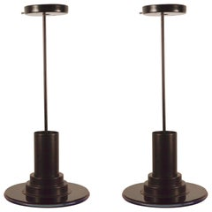 Pair of Fredrick Ramond Riva Pendant Spot Light Chandeliers