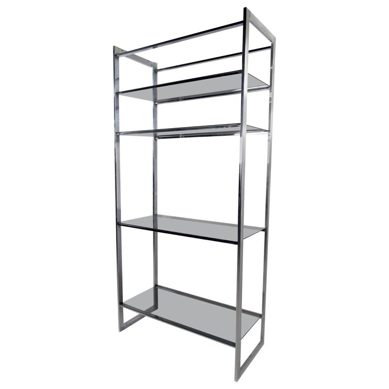 Mid-Century Chrome Shop Display Etagere after Milo Baughman