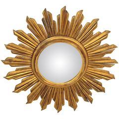 Continental Giltwood Starburst Mirror