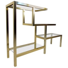 Vintage Modern Low Bookshelf after Milo Baughman