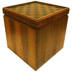 1950s American Modern Mid Century Reversible Top Small Chess Table/Stool