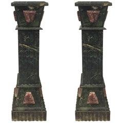 Pair of Marble Pedestals