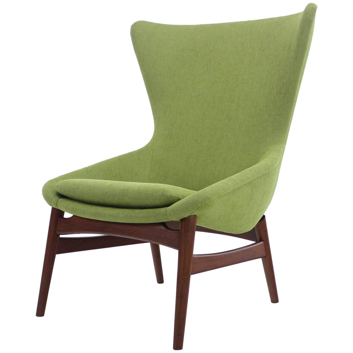 High back chair modern - Danish Modern Chair High Back Chair Designed By Erling Torvits At 1stdibs