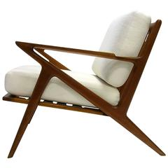 Poul Jensen for Selig ''Z'' Lounge Chair with New Upholstery