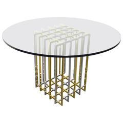 Pierre Cardin Brass / Chrome Dining Table