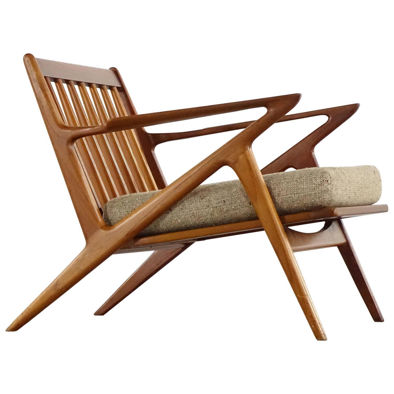 Poul Thorsbjerg Jensen Z Easy Lounge Chair Teak By Selig Denmark Modern 1969 At 1stdibs