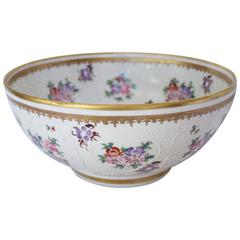 Large Armorial Punch Bowl by Porcelaine de Paris