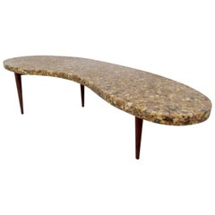 Vintage Kidney Shaped Coffee Table
