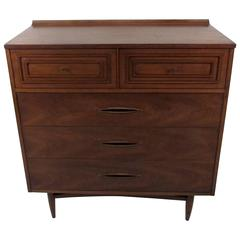 Mid-Century Sculptra Highboy Dresser by Broyhill
