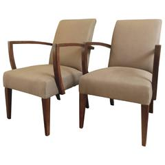 Pair of French Mid-Century Armchairs
