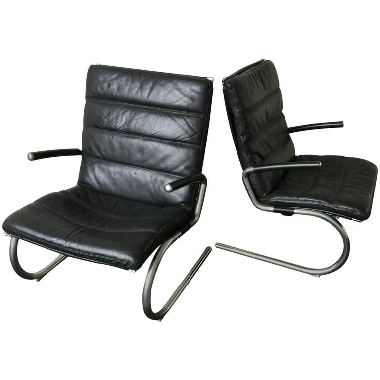 Rare Pair of Lounge Chairs by Jørgen Kastholm