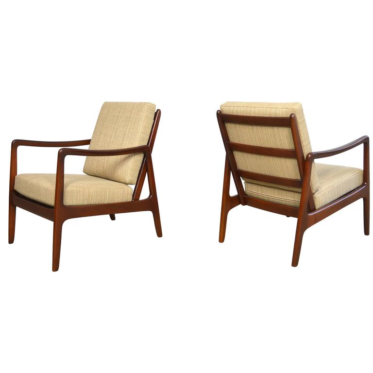 Ole Wanscher Danish Modern Lounge Chairs For Sale at 1stdibs