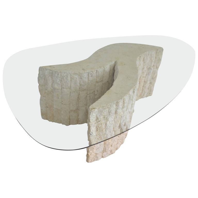 Post-Modern Tessellated Marble Coffee or Cocktail Table For Sale