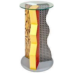 Ivory Pedestal by Ettore Sottsass for Memphis