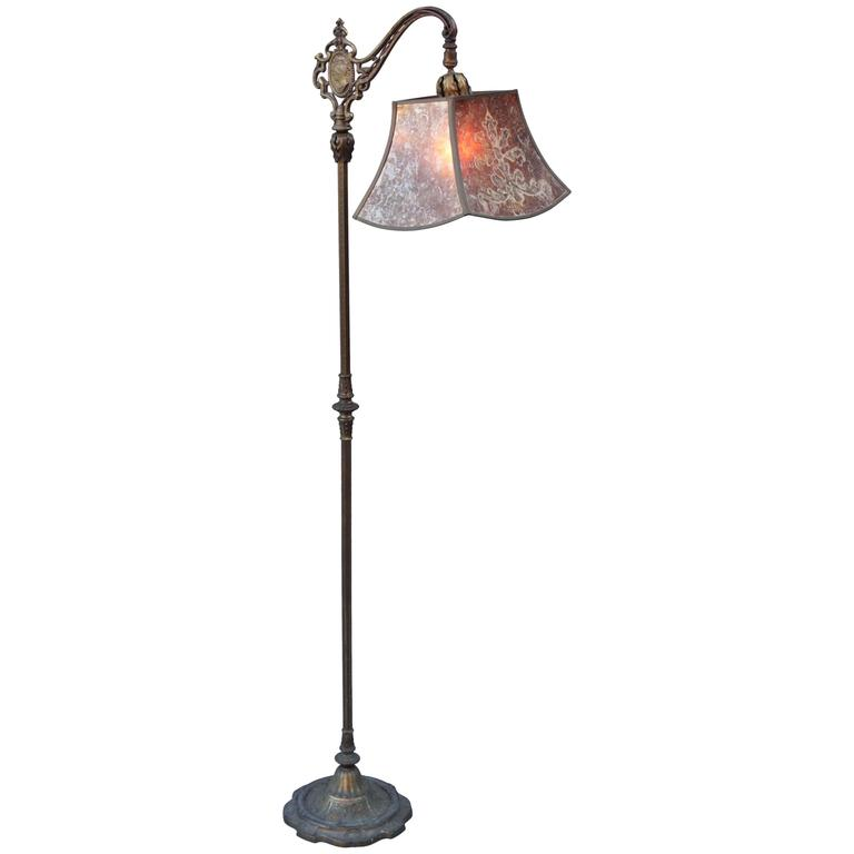 1920s Spanish Revival Floor Lamp With Exceptional Original