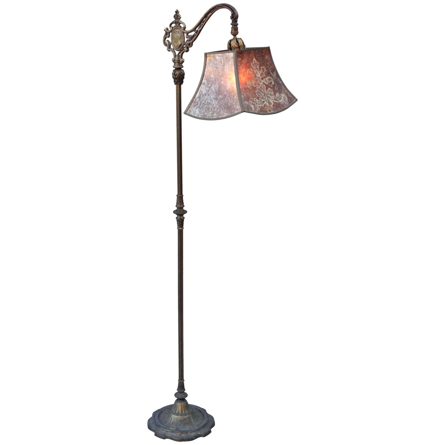 1920s spanish revival floor lamp with exceptional original For1920 Floor Lamp