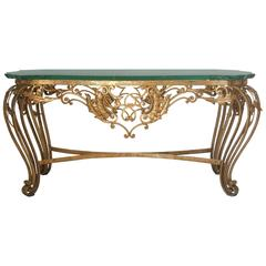 Italian Gilt Wrought Iron Coffee Table