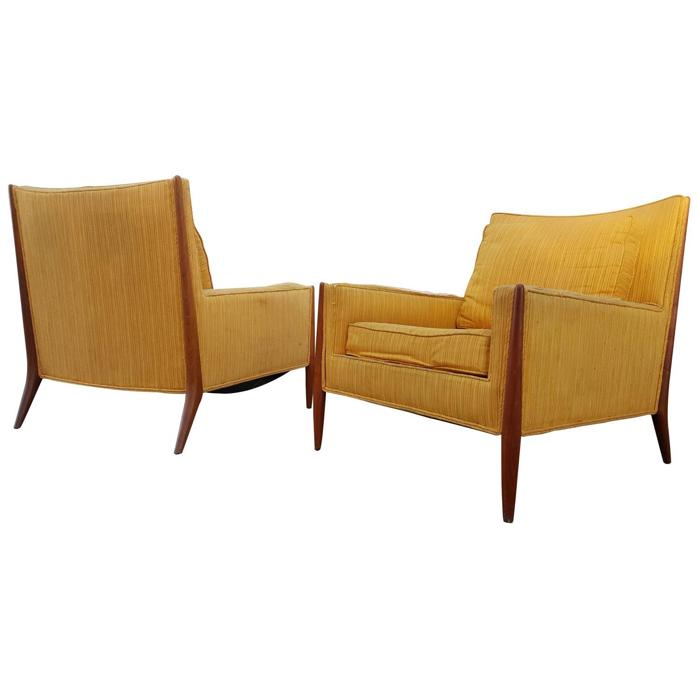Sculptural Teak Lounge Chairs by Metropolitan at 1stdibs