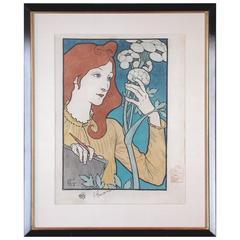 Original Framed Salon Des Cent Poster by Grasset
