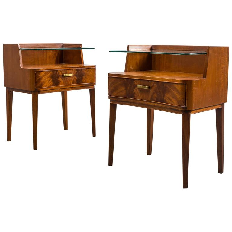 Pair of Nightstands by Axel Larsson, 1940