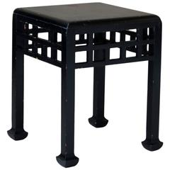 French 1920s Chinese Style Stool Attributed to Atelier Martine