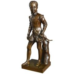 19th Century French Bronze of Young Henry IV of France