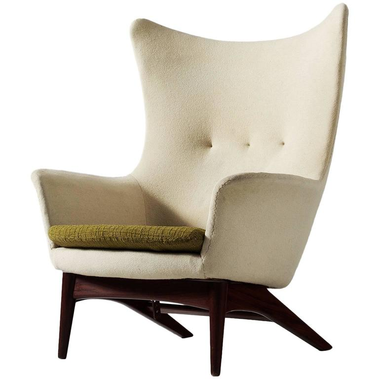 H W Klein Reclining Wingback Chair For Sale at 1stdibs
