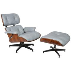 Rosewood Eames Chair, Model 670 and Ottoman, Model 671