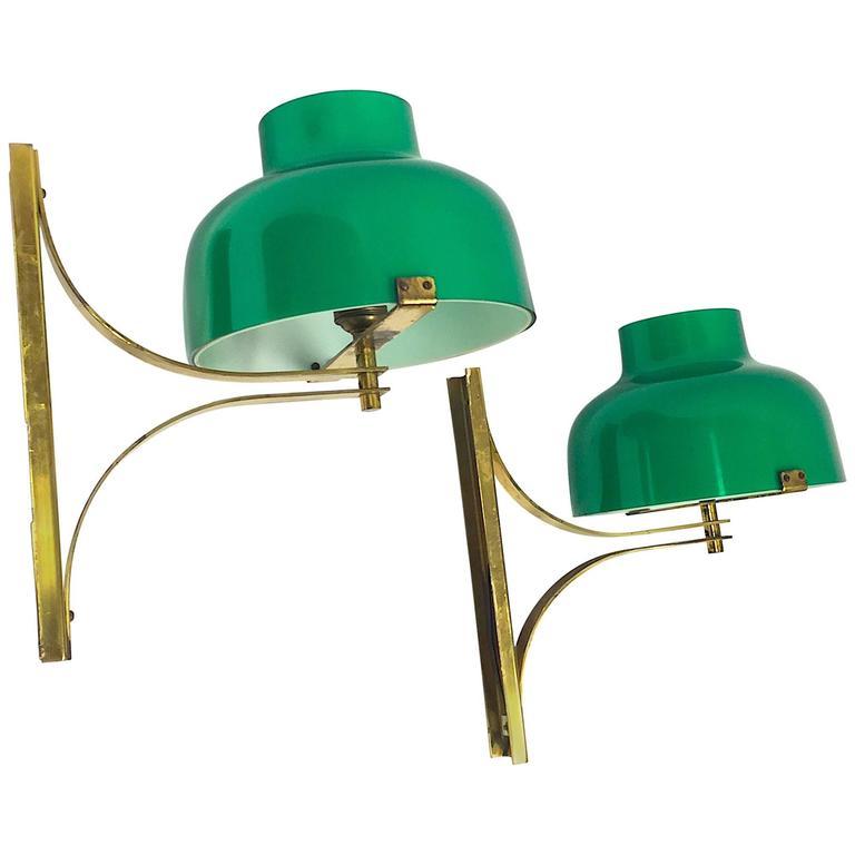 Miguel Milá Pair of Brass Wall Lamps Model Max Bill