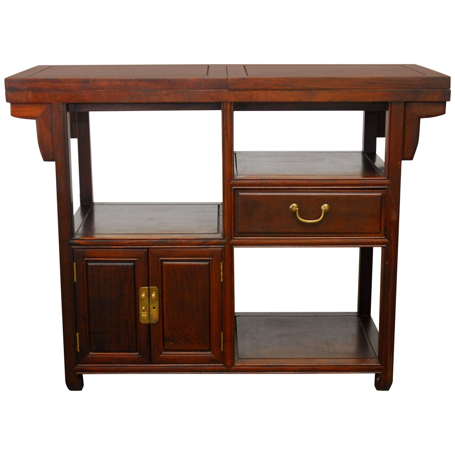 chinese rosewood buffet serving table for sale at 1stdibs. Black Bedroom Furniture Sets. Home Design Ideas