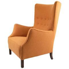 Danish Cabinet Maker Wingback Chair, 1940s