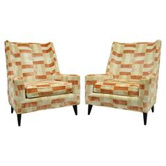 Pair of Harvey Probber Mid-Century Modern Curved Back Lounge or Club Chairs