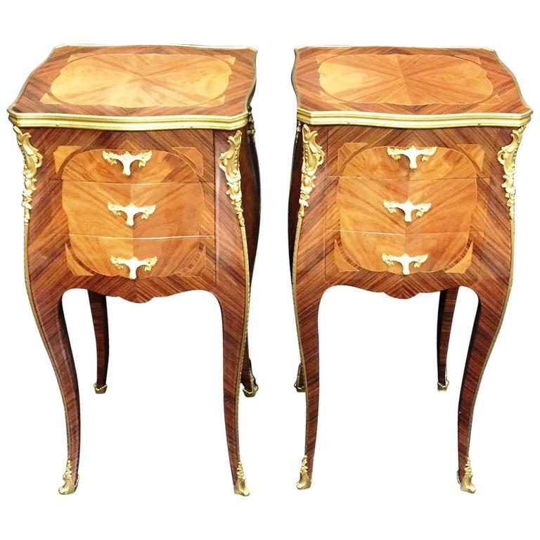 Pair Louis XV Style Side Tables For Sale at 1stdibs
