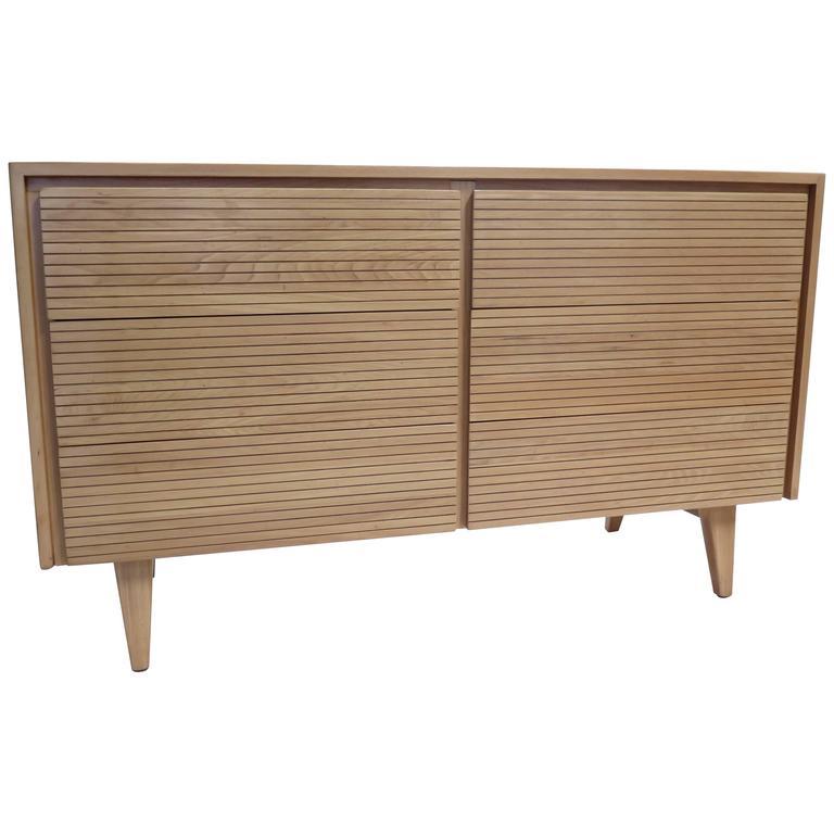 Mengel Furniture Solid Ash Wood Six-Drawer Dresser For Sale at 1stdibs